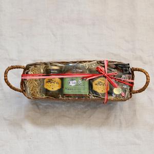 【ギフト】かご入り瓶詰めギフトセット (アンチョビソース2×トマトソース1)