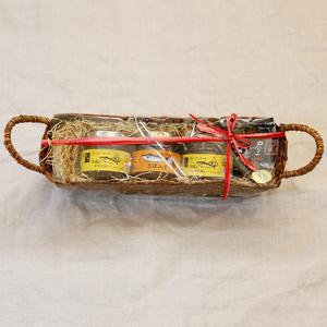 【ギフト】かご入り瓶詰めギフトセット (さばみそ1×さばのドライカレー2)