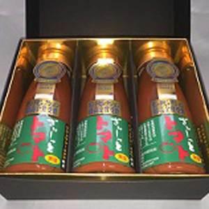 【無塩】北海道濃厚トマトジュース「ぎゅーっとトマト」 (180mlx3本)