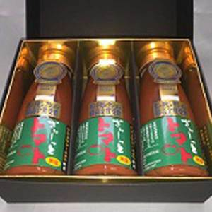 【有塩】北海道濃厚トマトジュース「ぎゅーっとトマト」 (180mlx3本)