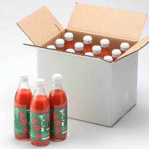 【無塩】北海道濃厚トマトジュース「ぎゅーっとトマト」 (500mlx12本)