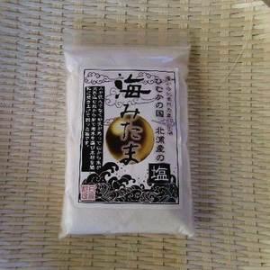 海みたま 天日平釜塩 (しお小粒500g)