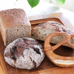 国産有機小麦100%の全粒粉オーガニックパンおまかせセット (L)