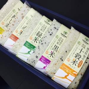 雑穀米セット 29年度産[無農薬・無化学肥料・有機JAS認定] (2合パック×5)