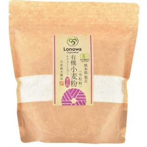 小麦粉 (薄力粉: チクゴイズミ) 全粒粉 [無農薬・無化学肥料・有機JAS認定] (400g)