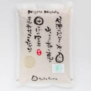 コシヒカリ 精米 令和元年(31年度産) [有機栽培 農薬化学肥料不使用] (白米2kg)