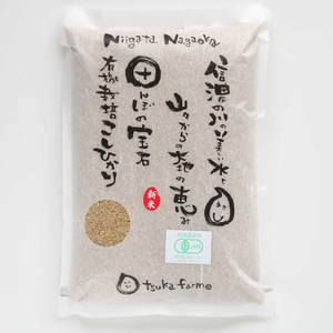 コシヒカリ 玄米 令和元年(31年度産) [有機栽培 農薬化学肥料不使用] (玄米2kg)