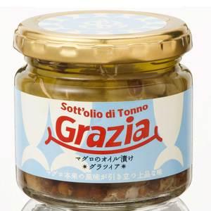 にんにくとハーブのマグロのオイル漬け Grazia (120g)